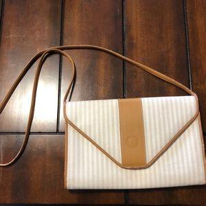 Authentic FENDI crossbody vintage white brown